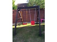 Hand made strong wooden swing