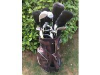 GOLF SET CLUBS, BAG AND TROLLEY