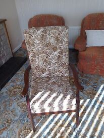 Armchair tapestry style material