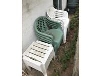 Garden Plastic Tables and Chairs