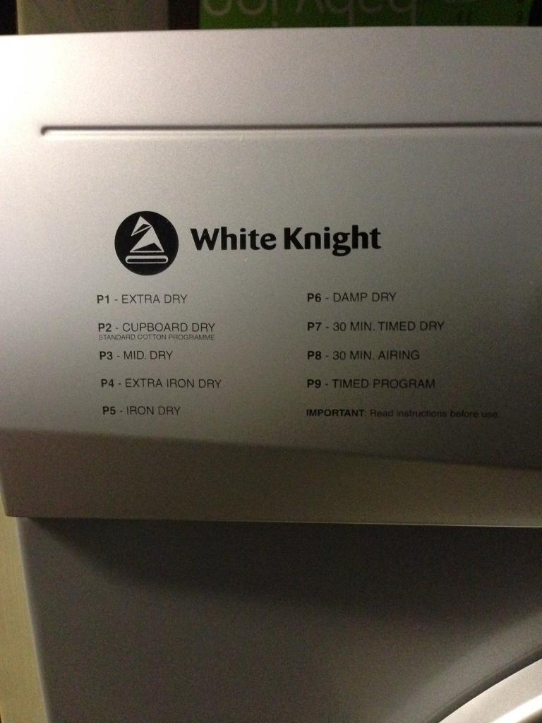White knight c86a7s