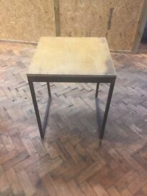 Solid Wood & Metal Framed Table