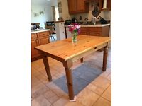 Solid pine kitchen table. Price reduced.