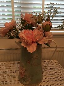 Large vintage jug with roses