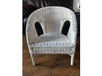 Small Childs wicker chair