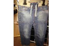 Boys 6-7 yrs cuff leg denim jeans