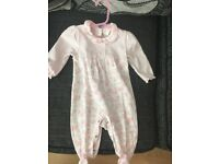 3 designer baby grows and one designer outfit. All from Melanie and Louise.