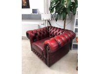 Beautiful Vintage Red Chesterfield Arm Chair - Great Condition