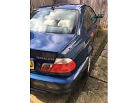 FOR SALE BMW 325iMsport Auto Baritz Blue Excellent condition for £3000 taxed and Mot till Jan 2027
