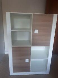 White & Brown bookshelve