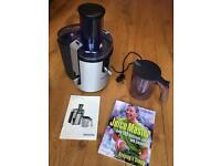 Philips HR1861 juicer with recipe book
