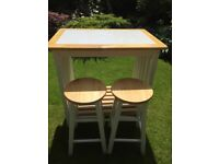 John Lewis Bar Table and Two Stools
