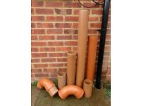 Unused assorted 110mm sewerage/soil pipes, various lengths plus elbows