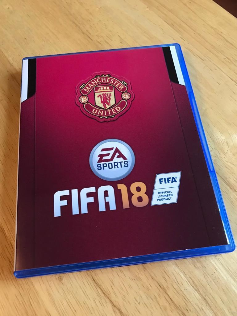 FIFA 18 with official Ea Manchester United cover for ps4