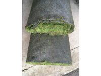 Used nearly new Artificial grass for sale