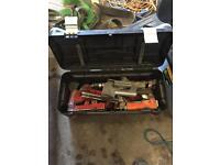 Joblot air tools with Stanley tool box