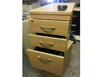 Under Office Desk 3 Draws File Cabinets