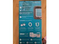 Sure Flap microchip activated cat flap - brown