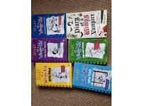 Six Diary of a Wimpy Kid hardback and paperback books Excellent condition