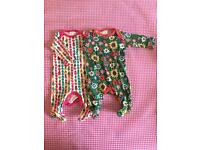 Girls newborn all-in-one outfits