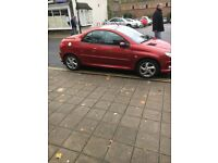 Peugeot 206 coupe m.o.t feb 2018 cheap to run about 50 per gallon