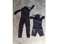 Oceanic Shadow Titanium Wetsuit x2, fins, boots, gloves, mask and snorkel