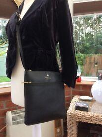 BNWT Ladies Black Leather Modalu Cross-body Handbag