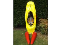 Pyranha Rev Kayak / Playboat (Large) and 2 x Buoyancy bags – fantastic condition
