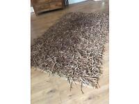 Leather Tassel Rug