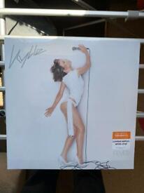 Kylie Fever Sainsburys sealed white vinyl