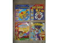 4x in very good condition Futurama and Simpsons Comics (BONGO).