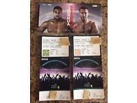 Boxing tickets Joshua vs Klitchco x2 Wembley 29th April