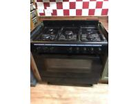 Range cooker gas hob electric oven
