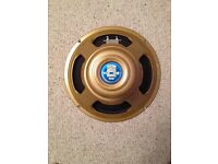 CELESTION ALNICO GOLD. 50 watt. 15/16 ohm. VGC. Perfect working order £115 bargain! VOX MARSHALL