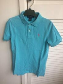 Turquoise Ralph Lauren t shirt 6yr