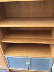 Home Office furniture including L shaped desk, under desk 3-drawer filing cab and 3 matching units