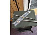 Fishing box on wheels rod stand and carp fishing 3+3 michigan rod and reel tackle bag