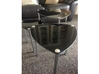 Black glass nest of tables