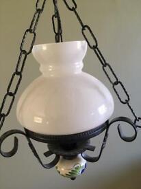 Wrought iron light pendant