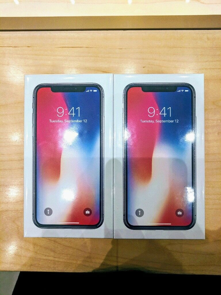 Apple iPhone X 256GB Space Grey Unlocked Sealed, collect from Apple store