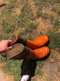 Stihl steel toe cap boots