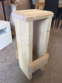 Handmade oak bar stool