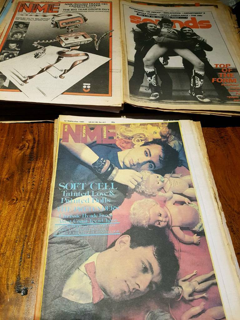 59 x NME SOUNDS MELODY MAKER MUSIC MAGAZINES 1981