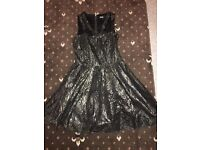 Womens beautiful gold and black party dress