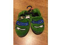 Brand New Teenage Mutant Ninja Turtles Slippers size 12-13