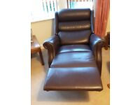 Celebrity Brown Leather Grande Riser Recliner Chair