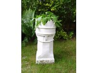 Chimney pot used for garden planter? painted white