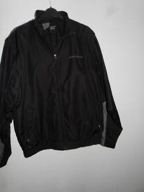 Cutter & Buck CB WindTec Black & Grey Leham Brothers Jacket full zip size large