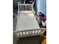 Toddler's bed frame and mattress