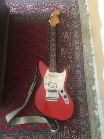 Fiesta Red Fender Jag-Stang Electric Guitar
